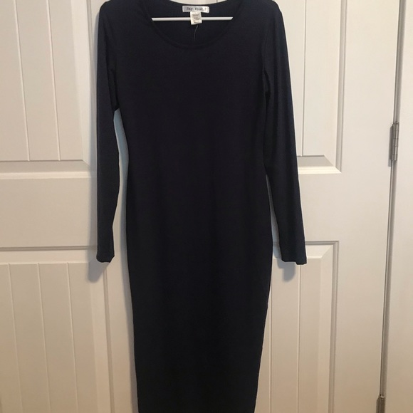Say What? Large Navy Blue maxi dress NWT